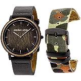 Original Grain Minimalist Black Dial Leather Strap Men's Watch OG4020MILBLK
