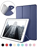 DTTO New iPad 2018/2017 iPad 9.7 Inch Case, Ultra Slim Lightweight Smart Case Trifold Cover Stand with Flexible Soft TPU Back Cover for iPad Apple New iPad 9.7-inch [Auto Sleep/Wake] - Navy Blue