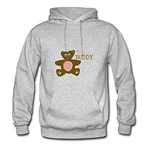 Lynsnyd Babybuddy Bear Image Hoody X-large For Women Grey