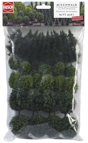 Busch 6591 - Mischwald mit 50 Bäumen Mega-Spar-Set