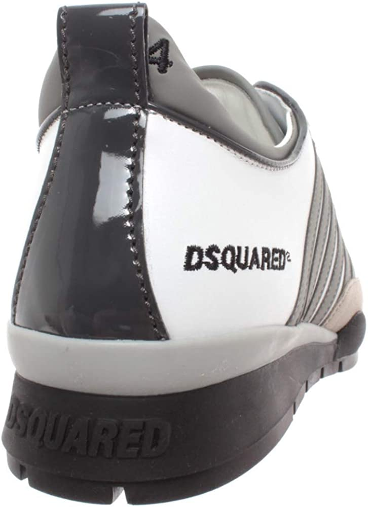 Chaussures Homme Sneakers Dsquared SNM0101 Blanc Gris Lace