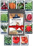 buy Heirloom Vegetable Garden Seed Collection – Assortment of 15 Non-GMO, Easy Grow, Gardening Seeds