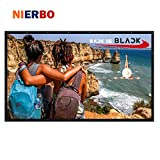 NIERBO 60 Inch 16:9 Collapsible PVC HD Portable Home and Outdoor Projector Screen Movies Screen for Front Projection (60)
