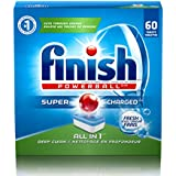 Finish All in 1 Powerball, 60 Tablets, Super Charged Automatic Dishwasher Detergent, Fresh Scent