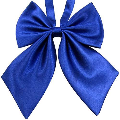 SYAYA Ladies girl Party Adjustable Pre-tied womens Bow Tie Solid Color Bowties for Women ties WLJ06 (Blue) -