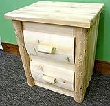 Midwest Log Furniture - Premium Log Nightstand - 2 Drawer