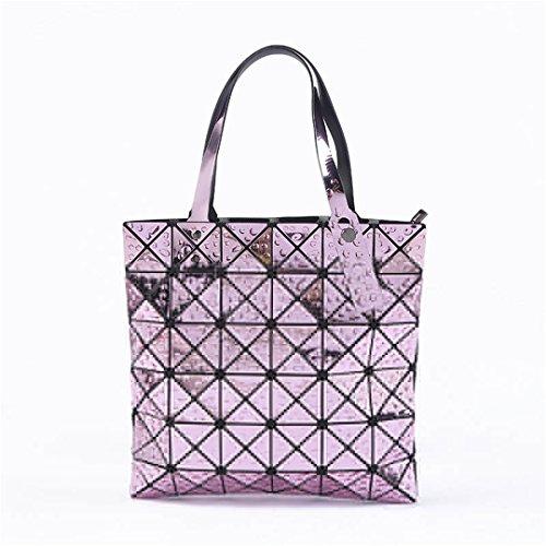 Tote BagCasual Plaid Shoulder 8 Handbag Women Folded 5 Bag Geometric 6 6 Bag Female qEtITI