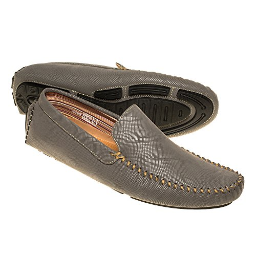 Quentin Ashford Mens Faux Leather Loafers – Slip On Moccasin Shoes