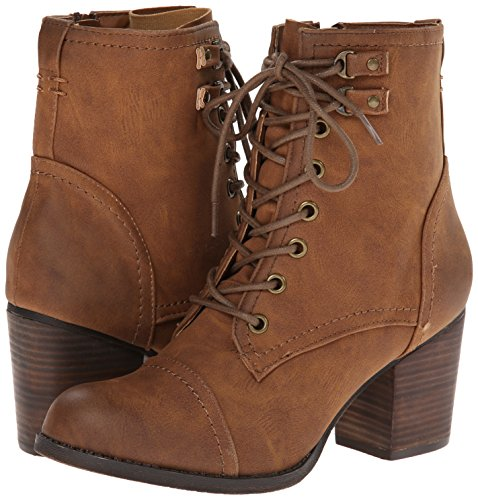 887865273226 - Madden Girl Women's Westmont Combat Boot, Cognac, 8.5 M US carousel main 5