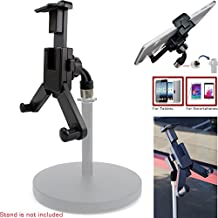 "ChargerCity 360° swivel Smartphone Tablet Mount Holder w/ 5/8"" Tripod Mic Microphone Stand Adapter mount for Apple iPad Pro Air Mini iPhone 6s Plus 6 SE Samsung Galaxy S6 S7 Edge Note"