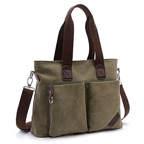ToLFE Women Top Handle Satchel Handbags Tote Purse Shoulder Bag (Large: (L)14.57''x(W)6.3''x(H)12.2'', Army Green-(L)) by ToLFE