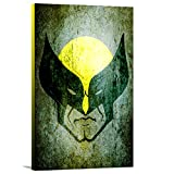 Artzee Designs Home Decor Ready to Hang Great Gift Idea Marvel Inspired Wolverine Abstract Wall Art, 10'' x 12'', Multicolor
