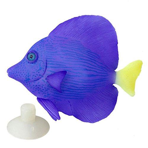 (Saim Lifelike Plastic Artificial Moving Floating Fish Ornament Decorations for Aquarium Fish Tank)