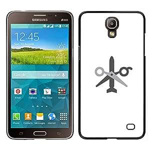 // PHONE CASE GIFT // Duro Estuche protector PC Cáscara Plástico Carcasa Funda Hard Protective Case for Samsung Galaxy Mega 2 / no wor no missile /