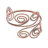 TUSHUO Fashion Victorian Filigree Swirl Arm Bracelet Gypsy Boho Armband Upper Arm Cuff Armlet (Rose Gold)