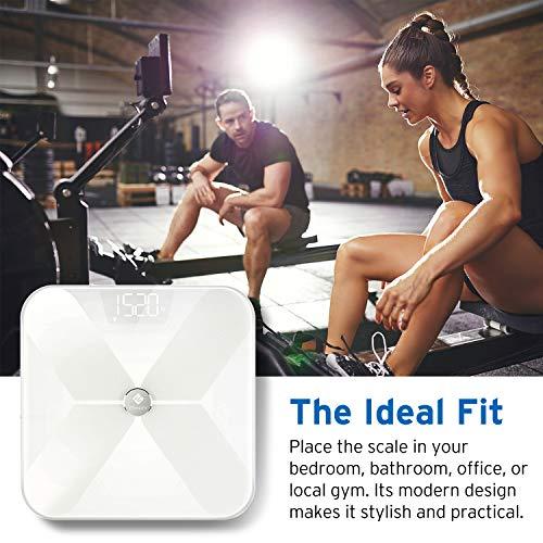Etekcity Bluetooth Body BMI Weight Scale with Essential FDA Analyzer App