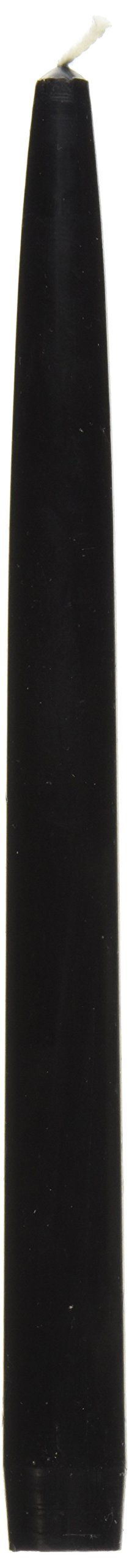 Zest Candle 12-Piece Taper Candles, 10-Inch, Black
