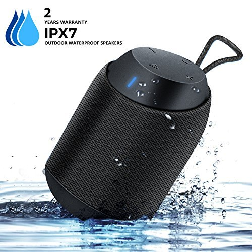 Waterproof Bluetooth Speaker, BUGANI Mini Diver Shower Speaker, 360° Sound BassUp Technology, IPX7 Waterproof, Hands-Free Speakerphone, Great Idea for Outdoor Parties and Activities (Black)