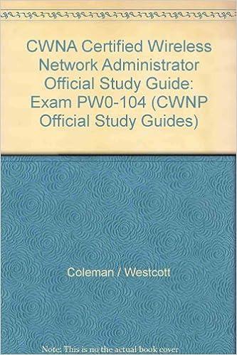 Enterprise learning solutions: cwna: certified wireless network.