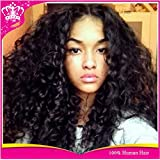 Virgin Brazilian Hair Human Hair Wigs Curly Front Lace Wig for Black Women 24inch Lacefront Wig