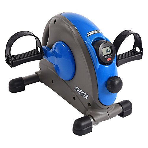 Stamina Mini Exercise Bike with Smooth Pedal System, Blue