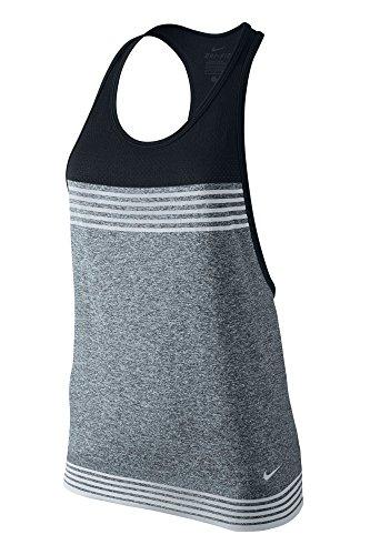 Nike Women's Dri-Fit Tank Top, Black/Grey, L