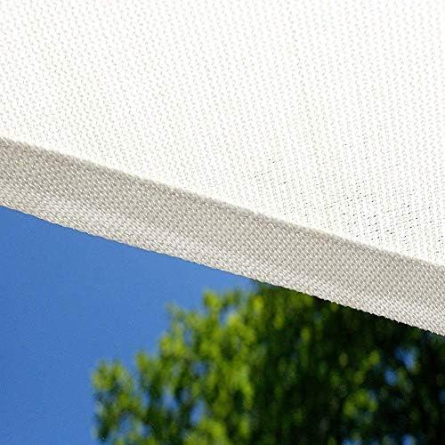 長方形シャドーセイル 2x4.5m, シャドウセイル 通気性 90%UVカット 日焼け防止と防風 強い引き裂き抵抗 庭園、バルコニー、キャンプ、パーティーに最適 - 白色 185GSM