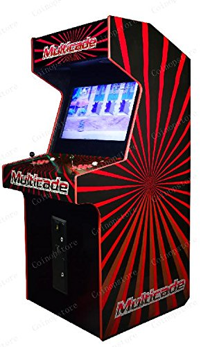 32'' LED Hurricane Arcade Cabinet. Two Player, Trackball Included. Plays any Horizontal JAMMA Game board! by Proarcades, LLC