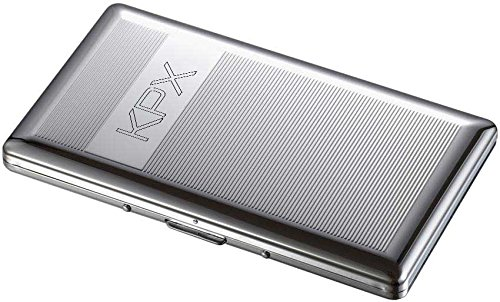 Personalized Chrome 120's Size Cigarette Case with Free Engraving