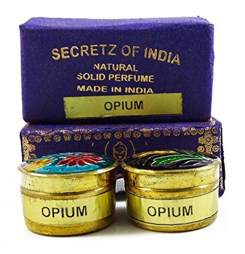 Natural Opium Fragrance Solid Perfume Body Musk Natural In Mini Brass Jar 4g