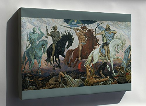 Canvas 24x36; Four Horsemen Of The Apocalypse, An 1887 Painting By Victor Vasnetsov. The Lamb Is Visible At The Top