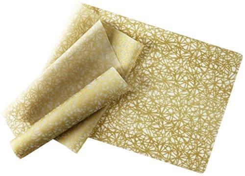 Modern-Twist, Silicone Table Runner, 72'' x 14'', Twine Pattern, Gold by modern-twist