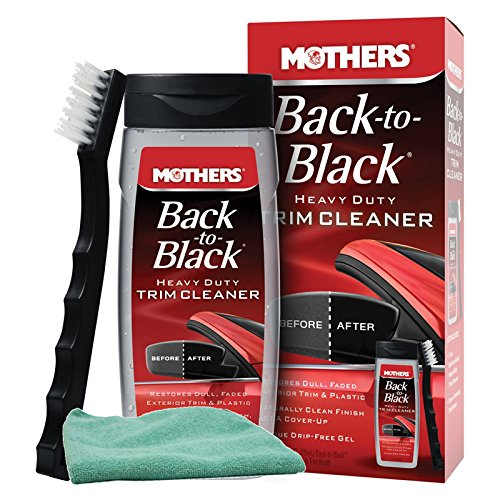 Mothers Back-To-Black Heavy Duty Trim Cleaner Kit, Bundled with a Microfiber Cloth (2 Items)
