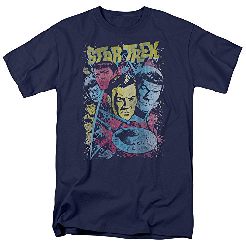 Trevco Star Trek T-Shirt CLASSIC CREW ILLUSTRATED Original Series XXL