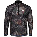 Majestic The Woods Texas Rangers Camo 1/2 Zip Jacket