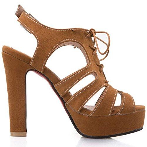 Women Sandals Block Melady Yellow Heel SBF61Oqw