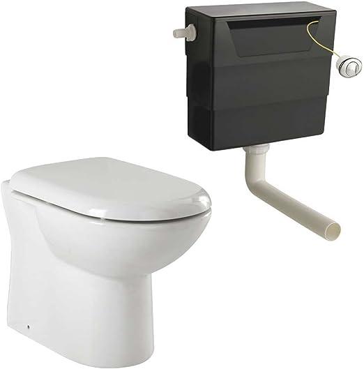 Toilette dos au mur avec siège à fermeture lente et chasse d ...