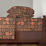 Roostery Bark Cloth 4pc Sheet Set Ua Tapa 1H by Muhlenkott King Sheet Set made with