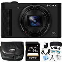 Sony Cyber-shot HX80 Compact Digital Camera 64GB Memory Card Deluxe Bundle includes Camera, Card, Reader, Wallet, Case, Mini Tripod, Screen Protectors, Cleaning Kit, Beach Camera Cloth and More! Explained Review Image