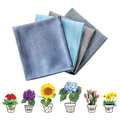 FullHappy Microfiber Glass Cleaning Polishing Cloths for Wine Glass Windows Mirrors Lint Free Kitchen Bar Dish Towels…
