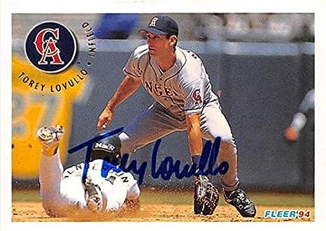 Torey Lovullo Autographed Baseball Card California Angels