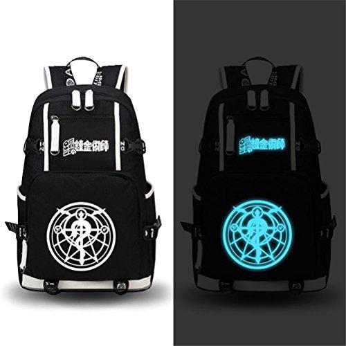 Siawasey Fullmetal Alchemist Anime Cartoon Laptop Daypack Backpack Shoulder School Bag (5)