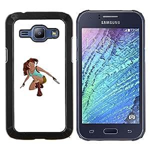 """Samsung Galaxy J1 / J100 , JackGot - Impreso colorido protector duro espalda Funda piel de Shell (Raider Superhero Pc Juego de caracteres"""")"""