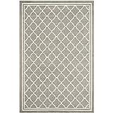 Safavieh Amherst Collection AMT422R Dark Grey and Beige Indoor/ Outdoor Area Rug (10' x 14')
