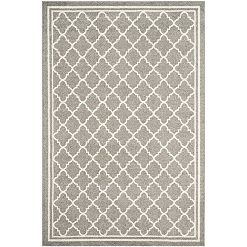 Safavieh Amherst Collection AMT422R Dark Grey And Beige Indoor/ Outdoor  Area Rug (4u0027 X 6u0027)