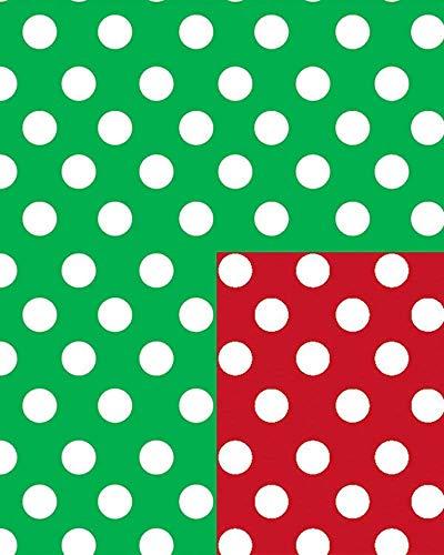 Christmas Polka Dot Reversible Gift Wrap Flat 24