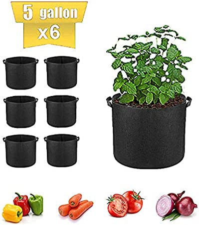 Details about  /Thickened Square Plant Growing  Black Bags Planting Nursery Pot Pouch Container