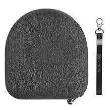 Geekria EJB40 Headphones Carrying Case for Sony MDR-V6, MDR-V600, MDR-V900HD, MDR-V500, MDR-7506 and more / Hard Shell Headphone Case / Headset Travel Bag (Black Fabric)