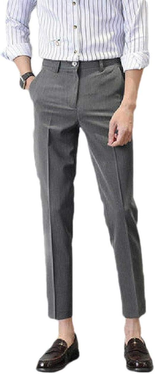 Tootess メンズリラックスフィットスリムフィットポケットノンアイアンビジネスドレスパンツ