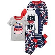 Toddler Boys' 5-Piece Cotton Snug-Fit Pajamas